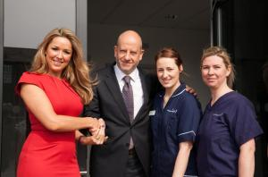 Rafet Gazvani and Claire Sweeney Opening the Knutsford Centre